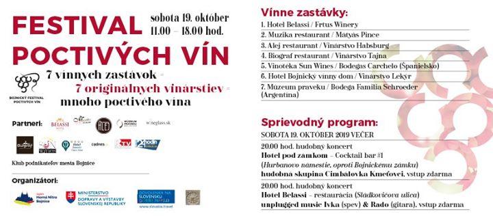 Bojnický festival poctivých vín 2019