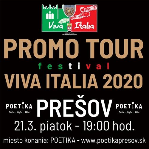 PROMO TOUR VIVA ITALIA 2020 - PREŠOV
